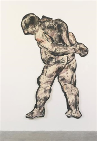 ubu drawing striding man by william kentridge