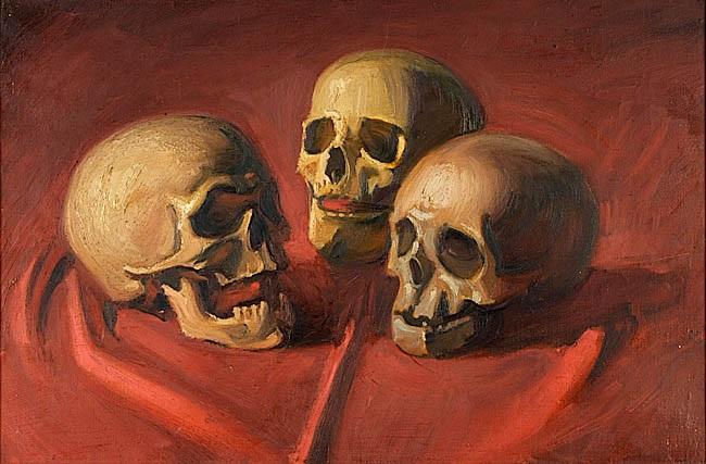 drei totenköpfe by georg scholz