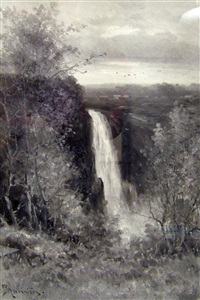 montgomery falls, near quebec by georgina m. de l' aubiniere
