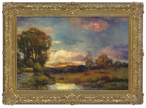 across the fields sunset by charles p appel