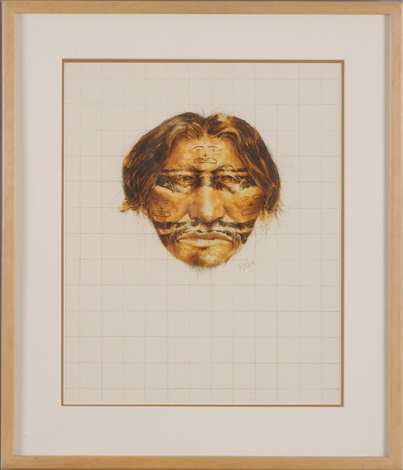 Northwest Indian With Stamped Face Decoration By Paul Pletka On Artnet