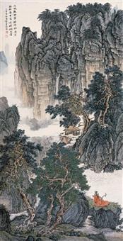 山林无事图 (landscape) by liu yanshui