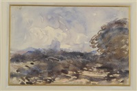 a moorland scene by hercules brabazon brabazon