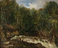 paisaje con cascada by dionisio fierros