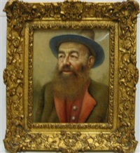 portrait of a bearded man by franz leitgeb