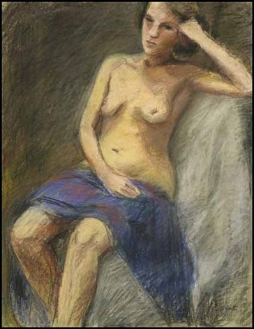 seated nude by william goodridge roberts