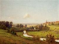 paysage en haute-saône by jean ferdinand monchablon