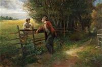 bonde og vandrer by walther aas
