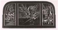 triptychon: sonnwendfeuer, perchtenlauf, haberfeldtreiben by walter andreas angerer