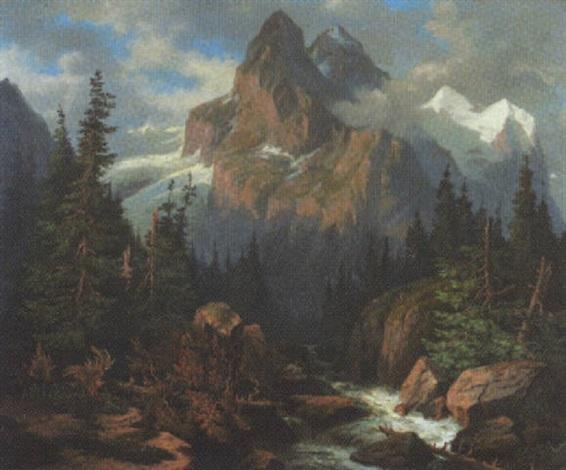 wilde alpenlandschaft by heinrich fischer