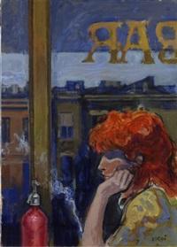 donna al bar by alberto sughi