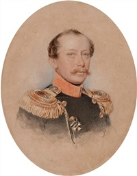 portrait of a lieutenant colonel of the cavalry by petr fedorovich sokolov