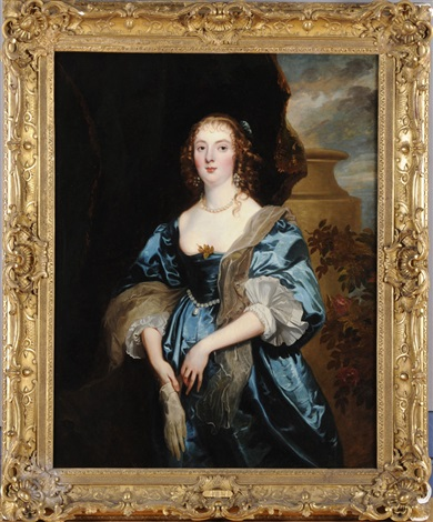 portrait of anne carr countess of bedford by sir anthony van dyck