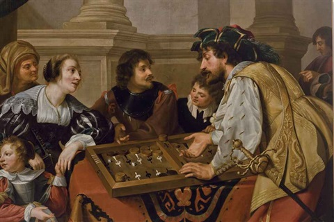 les joueurs de tric trac by theodoor rombouts