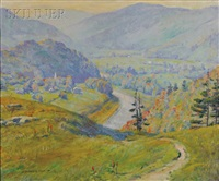 valley landscape, early autumn by howard everett smith