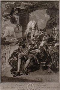 samüel bernard, chevalier del'ordre de st michel, comte de coubert by pierre-imbert drevet