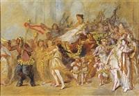 scène de carnaval (étude) by jules cornilliet