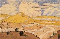landscape with volcano by maximilian alexandrovich voloshin