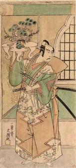 actor ichikawa yaozo ii by ippitsusai buncho
