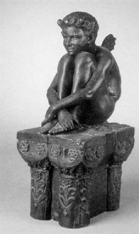 seated imp by eugène comte d astanières