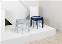 coppia di tavolini (2 works) by ginevra grilz and fabrizio alborno