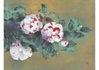 longevity flower (camellia) by oya toshihiko