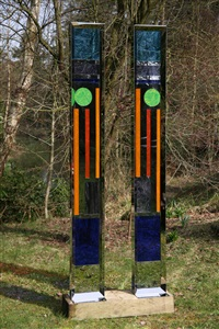 spectral columns (pair) by mark atoi