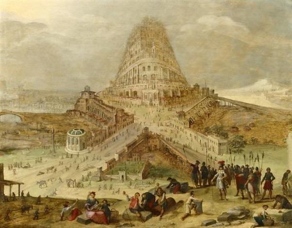 der turmbau zu babel by hendrick van cleve iii