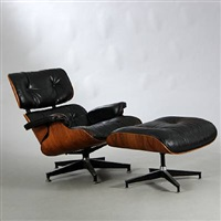 lounge chair with footstool (model 670) by charles eames