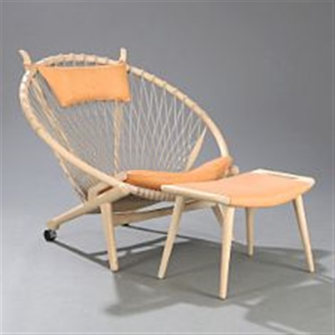 the circle chair easy chair and stool by hans j wegner on artnet