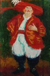 portrait of ole thestrup in the role as jakon von thyboe by kai lindemann