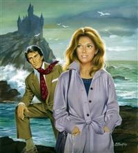 très belle illustration avec un couple devant by michel gourdon