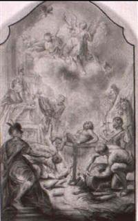 das martyrium des hl. laurentius by caspar franz sambach