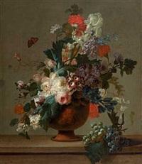blomsterstilleben i antikk vase by pieter faes