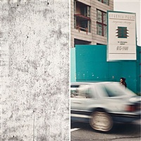 in the street vancouver - esther ii (diptych) by ian wallace