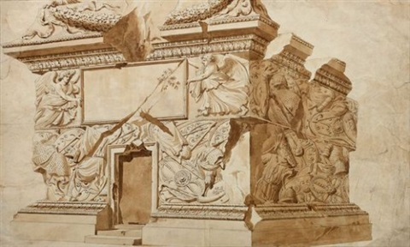 la base de la colonne trajane study by giuseppe manochi