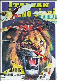 italian lion by mimmo rotella