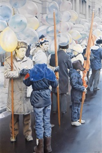 assembly point (from the celebratory demonstration series) by semyon faibisovich