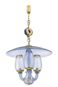 lampada a sospensione con elementi by barovier & toso (co.)
