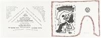 poèmes à voir (album of 14) by pierre alechinsky