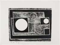 woodcut 5 circles by ben nicholson