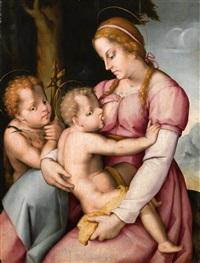 madonna mit kind und dem heiligen johannes by pier francesco di jacopo foschi