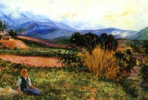 jeune berger kabile dans les pâturages by alphonse léon germain thill