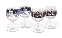 goblets (pair) (+ goblets (pair); 4 works) by heinrich modersohn