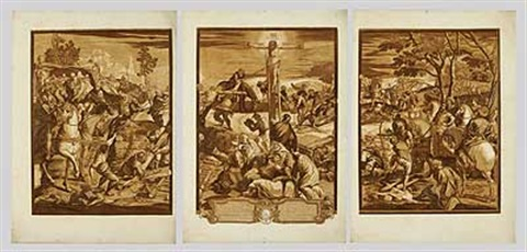 die kreuzigung after tintoretto 1 work in 3 parts 3 others 4 works by john baptist jackson