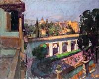 la alhambra desde el generalife by jose sanchez carralero