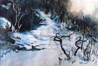 雪景 by luo zonghai