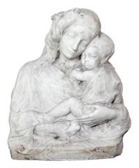 buste d'une mère à l'enfant (vierge à l'enfant?) by jean antoine pezieux