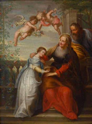 anna lehrt maria das lesen by sir peter paul rubens