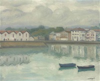 port de ciboure, saint-jean-de-luz, october 1927 by albert marquet